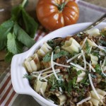Healthier Beef Ragu with Mint | WorldofPastabilities.com