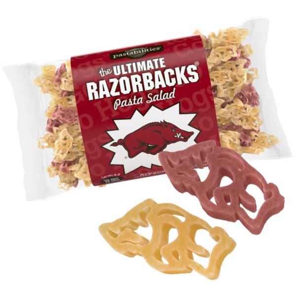 Arkansas Razorbacks Pasta Bag with pasta pieces