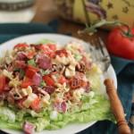 BLT Pasta Salad | WorldofPastabilities.com