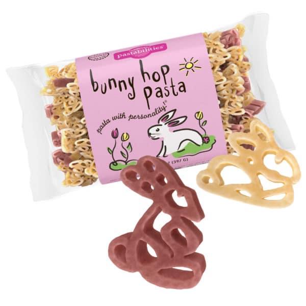 Bunny hop Pasta Bag with pasta pieces