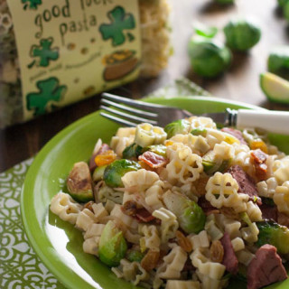 bacon brussels sprout and corned beef pasta