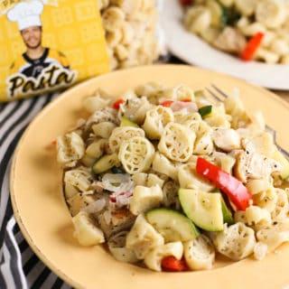 Boston Bruins Pasta's Pasta Primavera with Chicken | Light and delicious recipe your family will love! | Go Bruins! | WorldofPastabilities.com