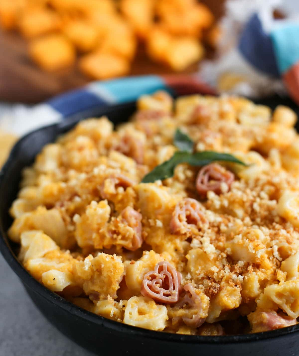Healthy Butternut Mac and Cheese | Enjoy mac and cheese like never before! Butternut squash shines with a bit of Parmesan and cheddar...not to be missed...except for the calories! | WorldofPastabilities.com