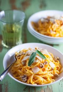 Butternut Squash Pasta Sauce over Gluten Free Tagliolini