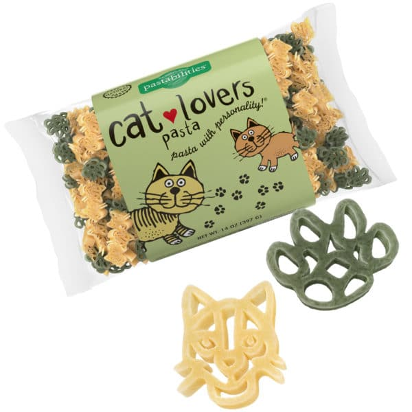Cat Lovers Pasta Bag with pasta pieces
