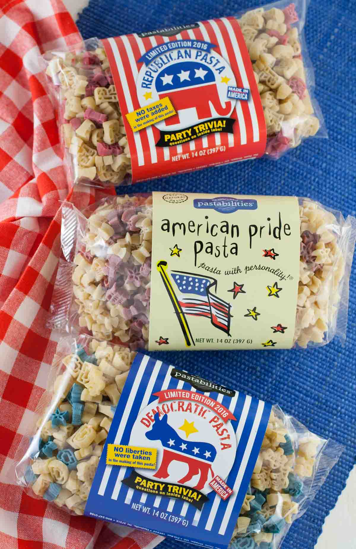 Campaign Fundraising with Fun Pasta | WorldofPastabilities.com | Get creative and have some fun this election season! Political Pasta is fun for the entire family!