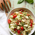Caprese Pasta Salad | WorldofPastabilities.com | The perfect summer salad is fresh, simple, and a crowd favorite! You'll make this over and over!
