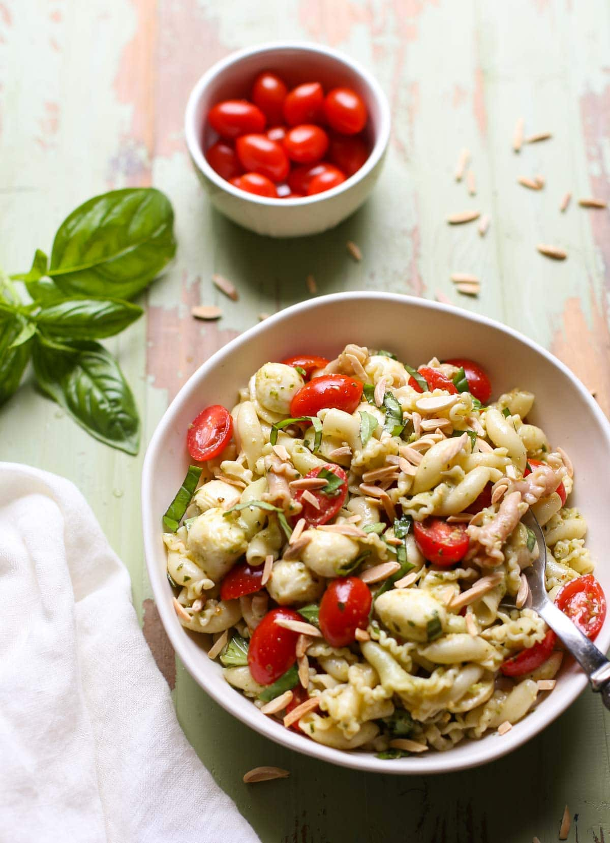 Caprese Pasta Salad   WorldofPastabilities.com   The perfect summer salad is fresh, simple, and a crowd favorite! You'll make this over and over!