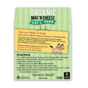 Cat Lovers Organic Mac and Cheese Back Label