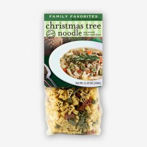 "Our Best Selling soup is now ready for the holidays with our ""Christmas Tree"" shaped pasta! Christmas Tree Noodle Soup is fun for the entire family!!"