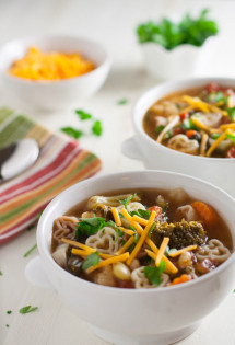 Chunky Vegetable Soup with Pasta
