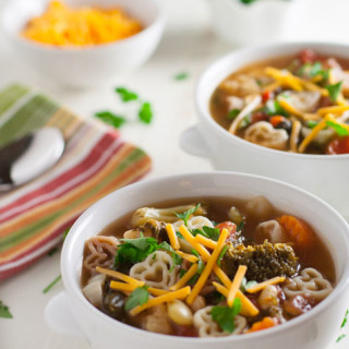 Chunky Vegetable Soup with Pasta | WorldofPastabilities.com