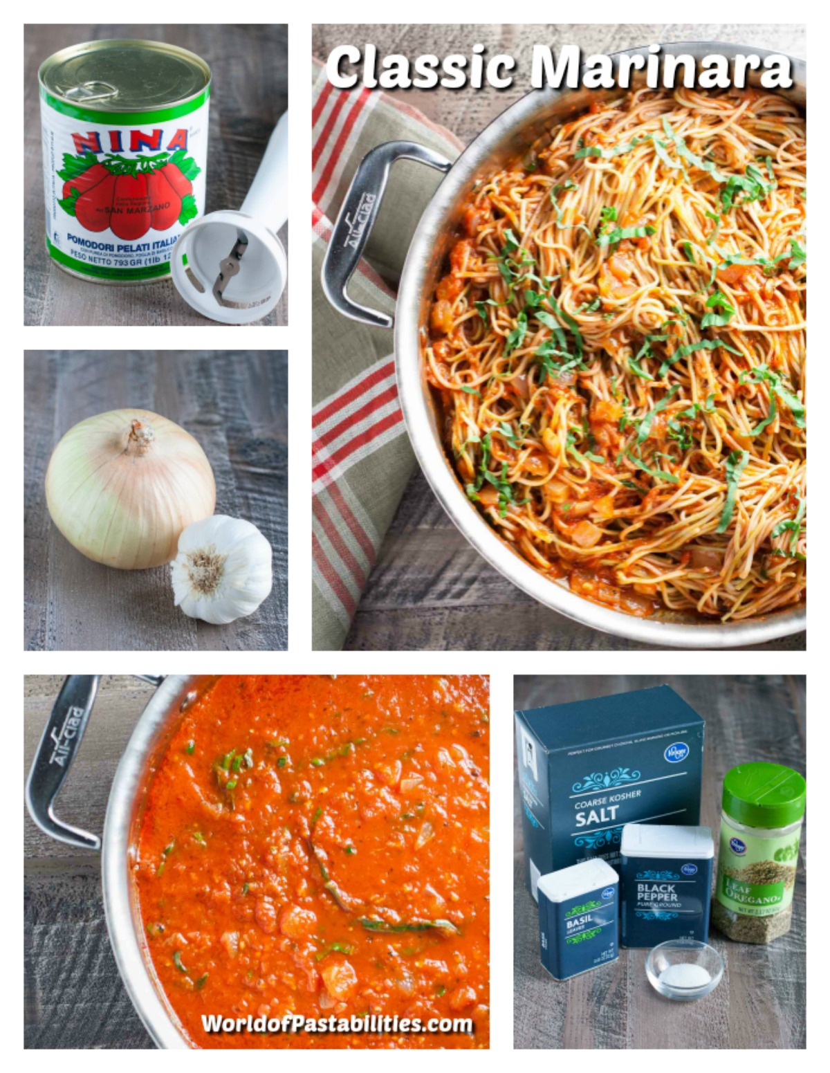 Classic Marinara Sauce | WorldofPastabilities.com | A versatile and delicious red sauce that will become your favorite go-to recipe! Italian tomatoes, olive oil, onions, and herbs - simple and fabulous flavors!
