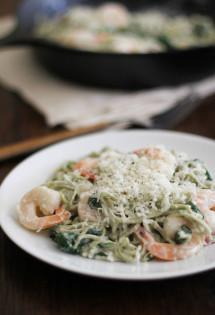 Creamy Spinach Angel Hair Florentine