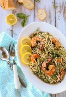 Creole Shrimp with Lemon Basil Pasta