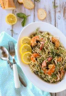 Creole Shrimp with Lemon Basil Pasta