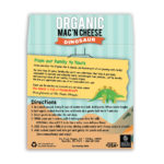 Dinosaur Organic Mac and Cheese Back Label