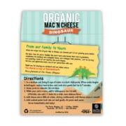 Dinosaur Organic Mac and Cheese Back Label