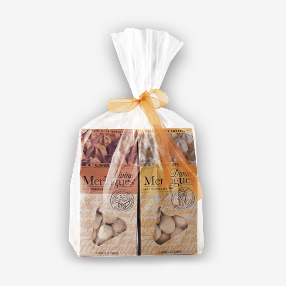 Our Divine Meringues Gift Set combines our Vanilla Bean and Chocolate Cocoa Crunch Meringues…all wrapped up with a bow! SHOP NOW!