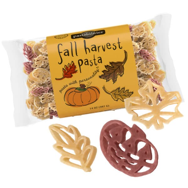 Fall Harvest Pasta Bag with pasta pieces