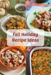 Fall Holiday Recipe Ideas