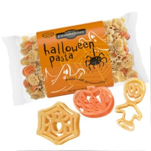 Halloween Pasta Bag with pasta pieces