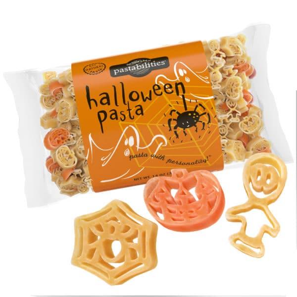 Halloween Pasta Bag with pasta pieces