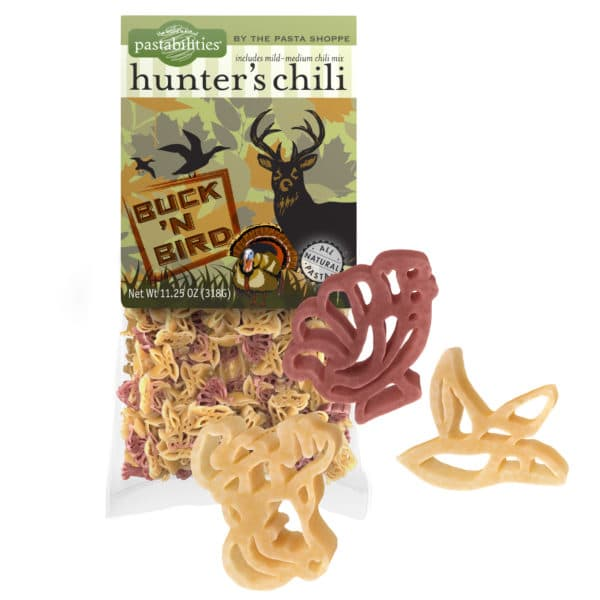 Hunter's Chili Pasta Bag with pasta pieces