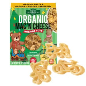 Holiday Toys Organic Mac and Cheese Box with pasta pieces