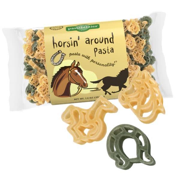 Horsin' Around Pasta Bag with pasta pieces
