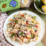 Hail Mary Tailgate Pasta Salad | Simple Pasta Salad using ingredients from your fridge and pantry! Delicious and easy for any tailgate party! Yum! | WorldofPastabilities.com