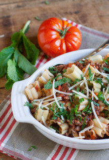 Healthy Beef Ragu with Mint
