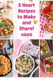 Collage of 5 Heart Recipes to Make and Share