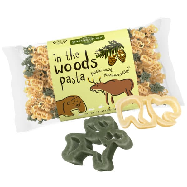 In The Woods Pasta Bag with pasta pieces