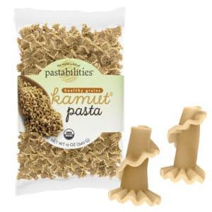 Kamut Pasta Bag with pasta pieces