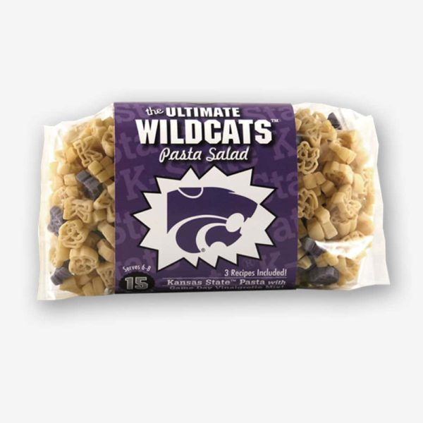 """Start the tradition this weekend with Kansas State """"Wildcats"""" Pasta Salad! Your own Logo Shaped Pasta with a TOUCHDOWN Vinaigrette Mix included. 