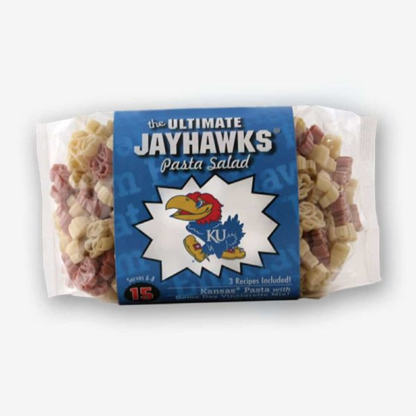 "Start the tradition this weekend with Kansas ""Jayhawks"" Pasta Salad! Your own Logo Shaped Pasta with a TOUCHDOWN Vinaigrette Mix included. Shop NOW!!! 