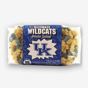 """Start the tradition this weekend with Kentucky """"Wildcats"""" Pasta Salad! Your own Logo Shaped Pasta with a TOUCHDOWN Vinaigrette Mix included.   Pastashoppe.com"""