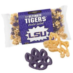 LSU Tigers Pasta Bag with pasta pieces