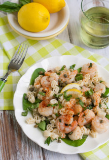 Lemony Shrimp & Scallop Pasta with Basil