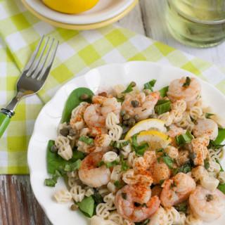 Lemony Shrimp and Scallop Pasta with Basil |WorldofPastabilities.com