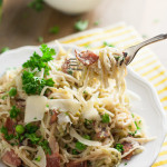 Light Angel Hair Carbonara | WorldofPastabilities.com