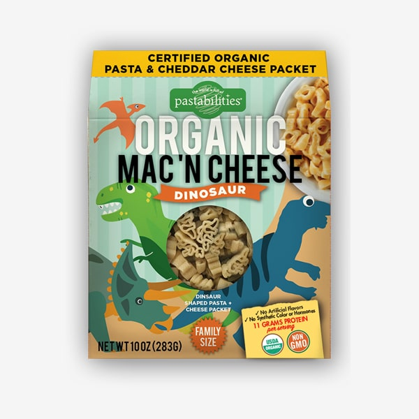 Pastabilities® Organic Dinosaur Mac 'n Cheese