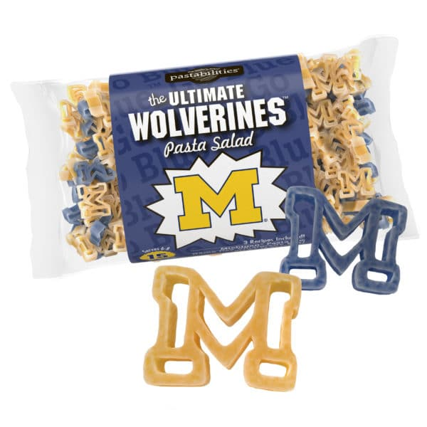 Michigan Wolverines Pasta Bag with pasta pieces