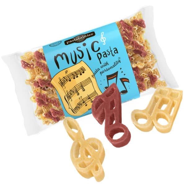 Music Pasta Bag with pasta pieces