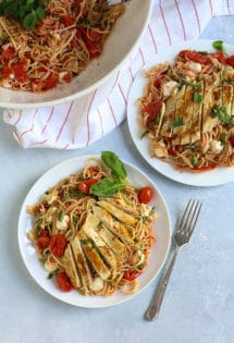 Margherita Pasta with Chicken