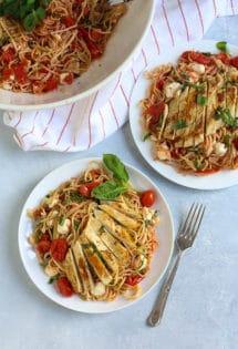 Margherita Pasta with Chicken