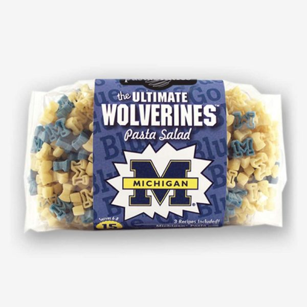 """Start the tradition this weekend with Michigan """"Wolverines"""" Pasta Salad! Your own Logo Shaped Pasta with a TOUCHDOWN Vinaigrette Mix included.   Pastashoppe.com"""