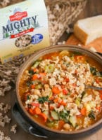 Minestrone Soup Large Bowl with Pasta Box