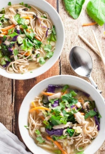 Miso Broth Bowl with Whole Wheat Noodles